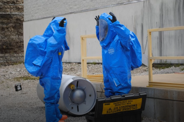 An LEPC sponsored hazmat exercise